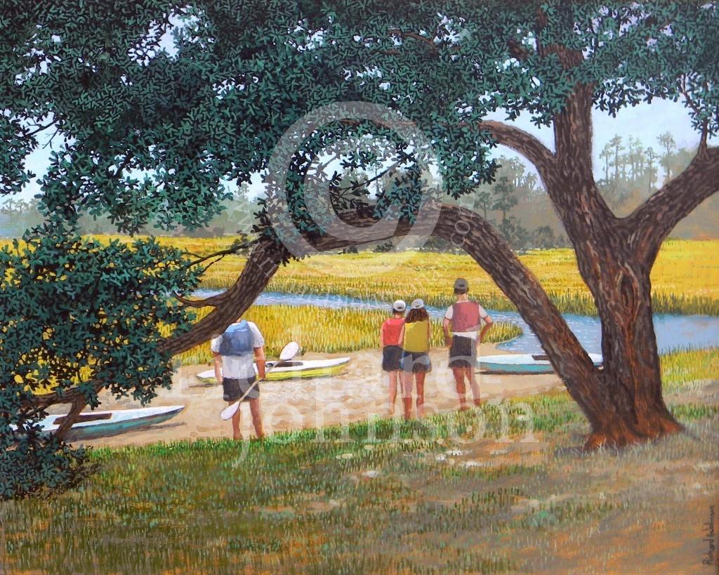 "Title: Up the Creek - Size: 20"" x 16"" - Price: $1600.00 - Medium: Acrylic"