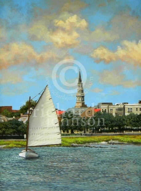 "Title: Summer Sail - 18"" x 24"" - $2200.00 - Medium: Acrylic"