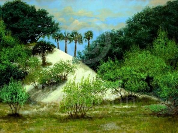 "Title: Behind The Dunes - 36"" x 30"" - $3200.00 - Medium: Acrylic"